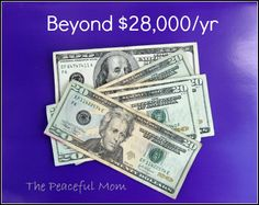 Beyond 28,000 A Year--The Peaceful Mom