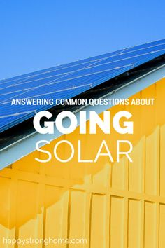 We've been looking into going solar and now I'm sharing some of my findings about solar energy with you! #sponsored #SunrunHome #CleverGirls