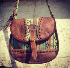 Green torres bag, made in nepal from buffalo leather  Visit our website to order himalayantreasuretrove.moonfruit.com Boho chic /hippie