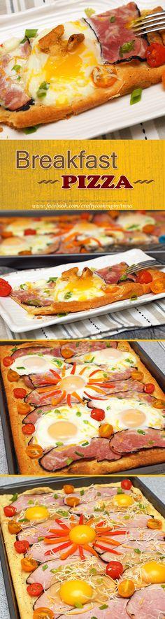 Breakfast Pizza! #Delicious #Easy #Crescent dinner rolls