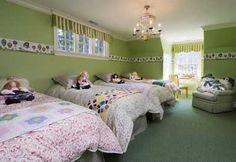 Cuartos+o+dormitorios+infantiles+decorados+con+cenefas.+|+Mil+Ideas+de+Decoración