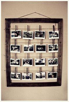 Faça você mesmo: moldura simples de fazer para pôr as fotos de família.