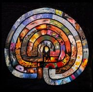 Beautiful labyrinth collage |  #health #art #resources