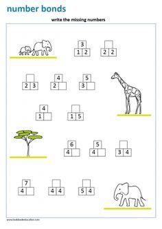 Worksheet Word Tracing Farm Animals - Lookbook Education Missing Number Worksheets, Number Bonds Worksheets, Number Worksheets Kindergarten, 3rd Grade Math Worksheets, Shapes Worksheets, Numbers Preschool, Math Numbers, First Grade Math, Kindergarten Math