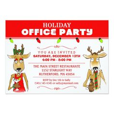 Christmas party invitation wording christmas invitations and xmas holiday office party reindeer with drinks invite stopboris Gallery