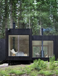 Cabin in Finnish Forest.