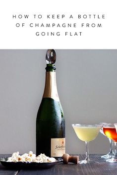 The Genius Trick for Keeping a Bottle of Champagne from Going Flat via @PureWow