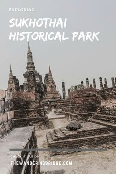 Sukhothai Historical Park consists of 193 ruins on 70 square kilometers of land. #Thailand #Travel #HistoricalRuins