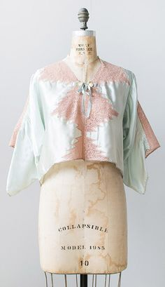 vintage 1930s lingerie jacket   Adored Vintage   #vintage #adoredvintage #1930s