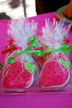 Party favor cookies, may need to start making these now to master them!