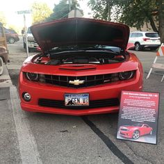 One of our #carshowboards for a #chevy #camaro! Get one for your car at showcarsign.com #chevycamaro #camaros #camarors #gen5camaro #genvcamaro #2010camaro #chevrolet #chevymuscle #gmperformance