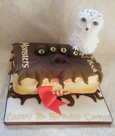 Birthday Cakes - The monster book of monsters ♥♥ If a cake is going to be fondant...
