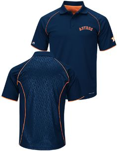 Houston Astros Blue Bases Loaded Synthetic Polo Shirt by Majestic $49.95