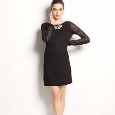 Ann Taylor Sheer Dot Shift Dress