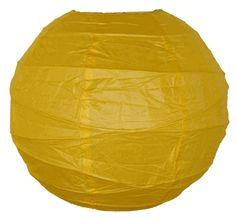 "18"" Criss Cross Dark Yellow Paper Lantern"