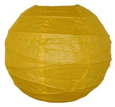 "18"" Criss Cross Dark Yellow Paper Lantern"