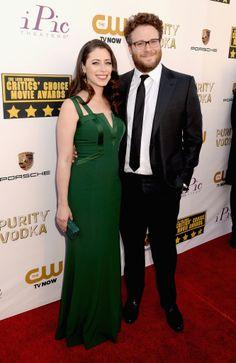 Seth Rogen arrived with his wife, Lauren Miller.