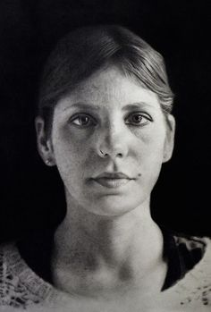 Eloy Morales (Spanish, b. 1973), pencil {contemporary figurative realism artist female head portrait young woman face drawing #loveart} eloymorales.es