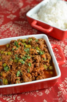 Slimming Eats Syn Free Keema Curry - gluten free, dairy free, paleo, Instant Pot, Slimming World and Weight Watchers friendly Curry Recipes, Diet Recipes, Cooking Recipes, Healthy Recipes, Keema Recipes, Diet Meals, Simple Recipes, Recipes Dinner, Chicken Recipes