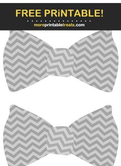 Gray Chevron Bow Tie Cut Outs Baby Shower Printables, Free Printables, Chevron Bow, Program Design, Cut Outs, Baby Boy Shower, Tiffany, Clip Art, Bows