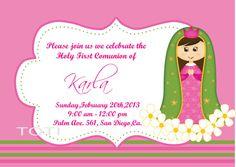 First Communion Invitation por TOTI67 en Etsy, $12.00