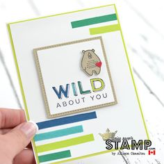 Pieces & Patterns Bear Card w/ VIDEO by Canadian Stampin' Up! Demonstrator Allison Okamitsu. www.NicePeopleStamp.com