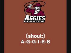 New Mexico State fight song; MY SCHOOL! (Yeah, our fight song directly references alcohol. We're oh so classy.)