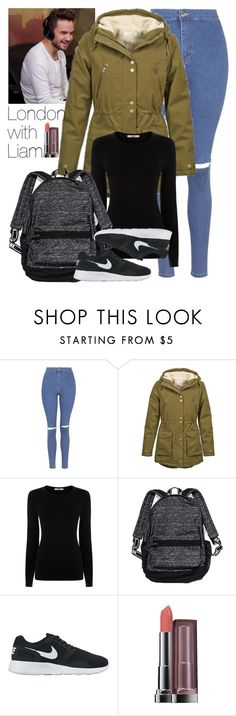 """London with Liam."" by welove1 ❤ liked on Polyvore featuring Payne, Topshop, Volcom, Oasis, Victoria's Secret, NIKE, Maybelline, women's clothing, women and female"