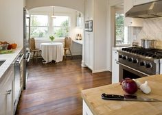 Orientation of kitchen now has an efficient work flow triangle design | Beacon Hill Classic by Model Remodel, Seattle, WA