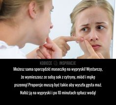 Świetna maseczka na wypryski! Face Care, Skin Care, Back To School, Life Hacks, Beauty Hacks, Hair Beauty, Lol, Fitness, Tips
