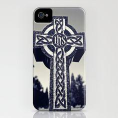 Cemetery Celtic cross iPhone Case