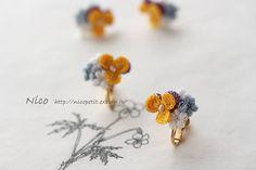 2017.2.22  ビオラとぷっくり小花のイヤリング♪  山櫻様( @kan6432 )にお届け先予定です。  オリムパスさんから、タティングレース専用糸が発売になったようですね。  細いタイプは#70 相当だとか。  私も使えるかも♪  色数も多くて、ワクワクしちゃう!  早く実物を見に行きたいなぁ♪  #crochetflowers #crochet #crochetaccessories #handmade #handmadeaccessories  #ビオラ #イヤリング #レース編み #レース編みアクセサリー #ハンドメイド #ハンドメイドアクセサリー #アクセサリー #手仕事 #ものづくり #レース編みアクセサリーNico  #山櫻 #淡路島