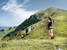 Nordic Walking at the Kitzbühel Horn hiking alps Austria
