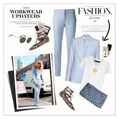 """""""LFW: Workwear updates"""" by amaryllis ❤ liked on Polyvore featuring STELLA McCARTNEY, Marc by Marc Jacobs, Givenchy, Nephora, Jurlique, RGB Cosmetics, Fendi, JINsoon, StreetStyle and WorkWear"""