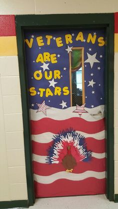 Veteran's Day Door Decoration! 3rd grade! | My 3rd Grade ...
