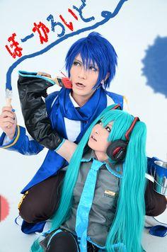 KAITO and Miku Vocaloid cosplay by WaonHirasawa
