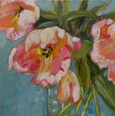 """Daily Paintworks - """"Togetherness"""" - Original Fine Art for Sale - © Jean Delaney"""