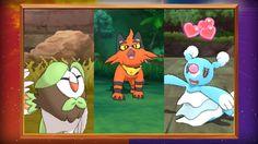 Evolved Forms of the Starter Pokémon Revealed in Pokémon Sun and Pokémon...