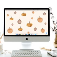 """September's """"Pumpkin"""" FREE Desktop Download Lily And Val, Birthday Month, Wallpaper Downloads, Memorable Gifts, Fall Pumpkins, I Fall In Love, Free Gifts, Desktop, How To Draw Hands"""