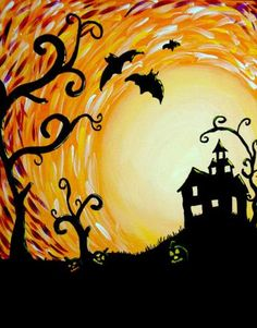 """""""Haunted Sunset"""" at www.GalleryOnTheGo.com #GOTG"""