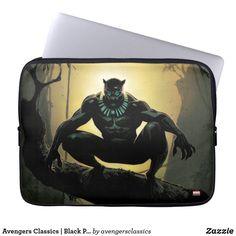 Avengers Classics   Black Panther In Tree Computer Sleeve #marvelsuperheroes #avengersendgame #marvelcomputersleeves Neoprene Laptop Sleeve, Laptop Sleeves, Black Panther Comic, Comic Art, Comic Books, Computer Sleeve, Custom Laptop, Day Use, Marvel Comics