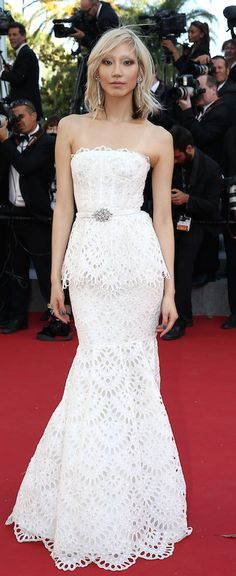 So Joo Park Cannes Festival Red Carpet Style by The Blonde Salad