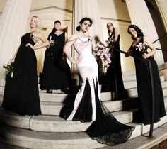 Gothic wedding party