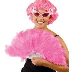 Gypsy Rose Lee art decor style plumes rose éventail à la main Femme Burlesque Accessoire
