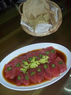 Tuna Sashimi at Hotelito Mio (south of Puerto Vallarta). Served on Tuesday, Feb 21, 2012. Can you tell 'fresh' is their philosophy?