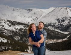 Loveland Pass Summit Colorado Engagement Session Natural Emotion Photojournalism