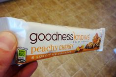 GoodnessKnows bars taste great! Get yours at CVS, Walgreens, or RiteAid.  I received free product from smiley360.com in exchange for feedback.