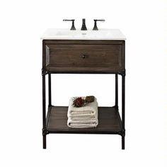 "Fairmont Designs Toledo 24"" Open Shelf Vanity 1401-VH24 :: Bath Vanity from Home & Stone"