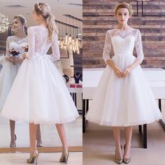 Cheap dress fresh, Buy Quality dress salsa directly from China dress music Suppliers: Wedding Dresses 2017 Vintage Plus Size Scoop Lace Short Wedding Dresses Garden Bridal Gown