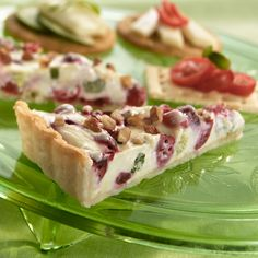 Light and creamy, our Cranberry Gorgonzola Appetizer Tart is a must for blue cheese lovers!